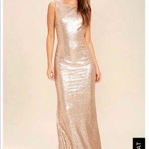 Sequin Gold Dress